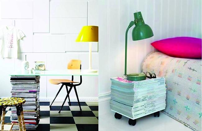 13 ideias fantásticas para organizar os seus livros - mesa de escritório