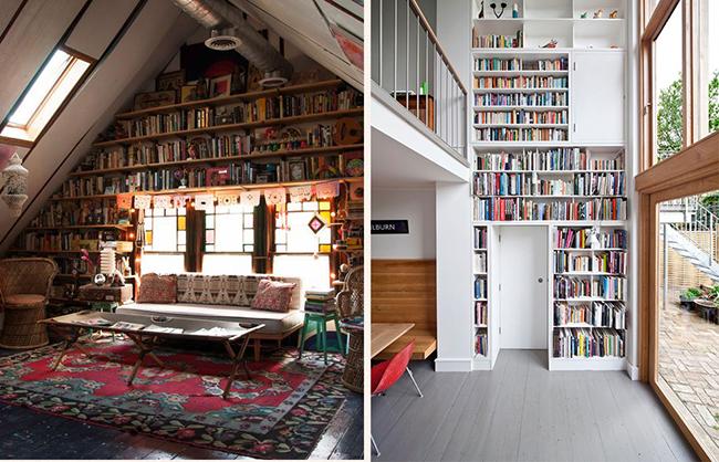 13 ideias fantásticas para organizar os seus livros - paredes de livros