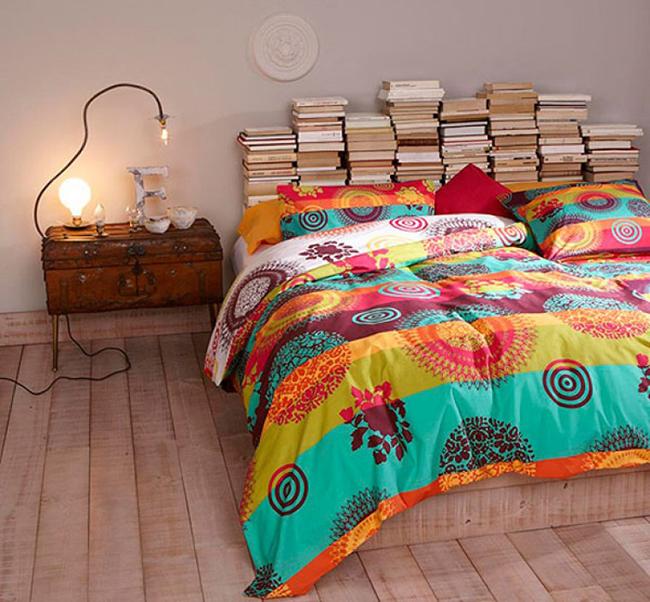 13 ideias fantásticas para organizar os seus livros - cabeceira de cama