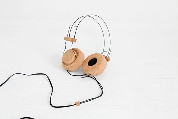 Usos surpreendentes da cortiça - headphones