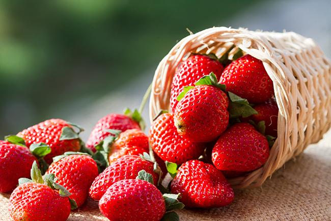 Top 10 frutos menos calóricos - morangos