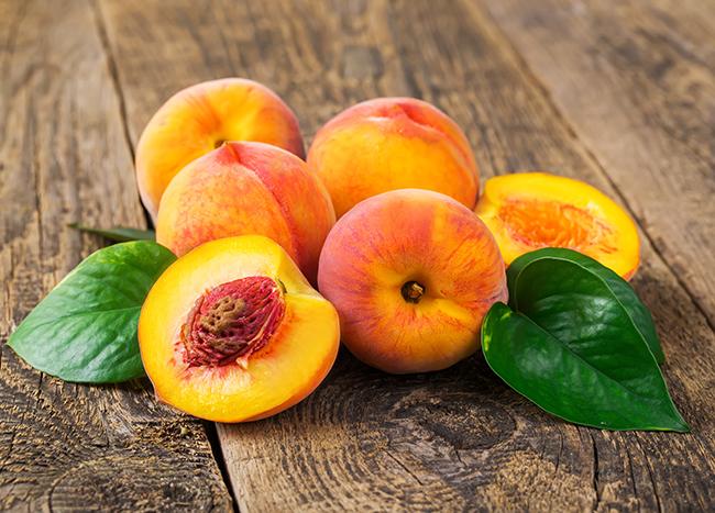 Top 10 frutos menos calóricos - pêssegos