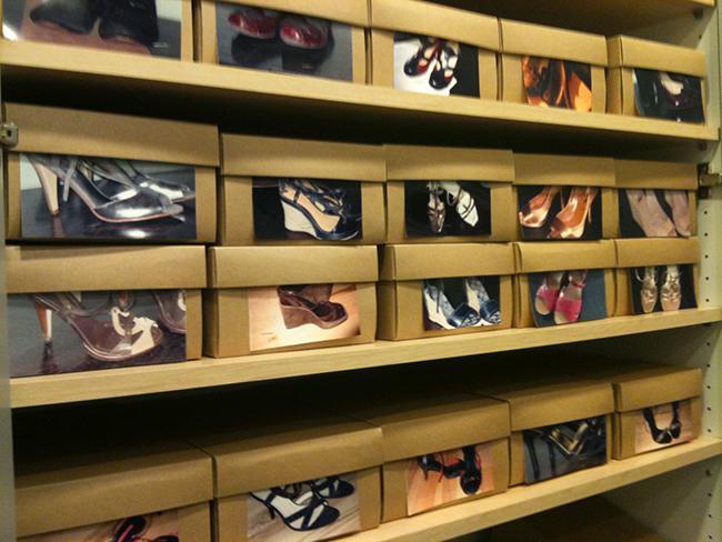 Ideias para organizar os seus sapatos - caixas de sapatos com fotografias