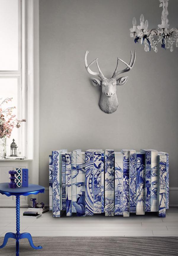 Aparadores que são estrelas de decoração - aparador com azulejos portugueses