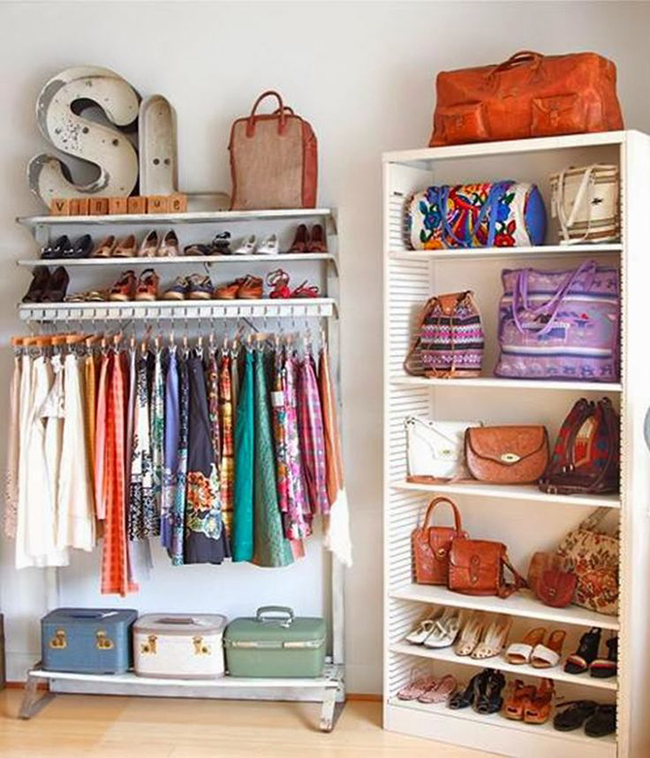 Closets de sonho para todas as carteiras - closet simples de fazer