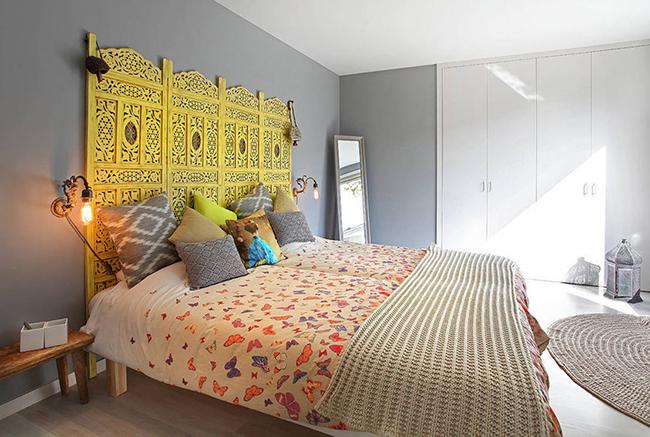 Os biombos e as 1001 maneiras de os usar - biombo cabeceira de cama