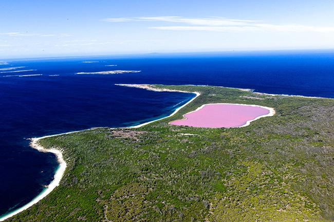 Lago Hillier, Austrália - 11 das ilhas mais bonitas do Mundo