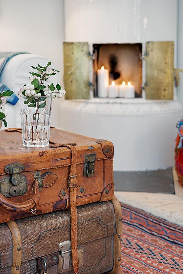 Estilo rústico - malas de viagem antigas