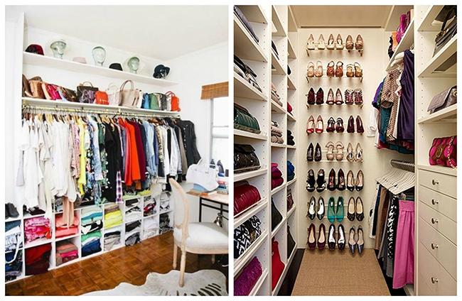 Closets de sonho para todas as carteiras - alterne prateleiras e cabides