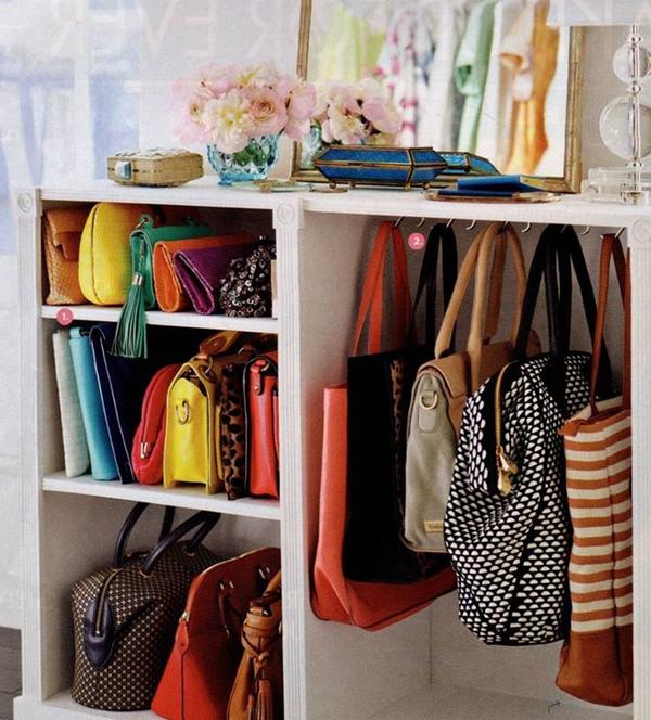 ideias de arrumação para malas e carteiras