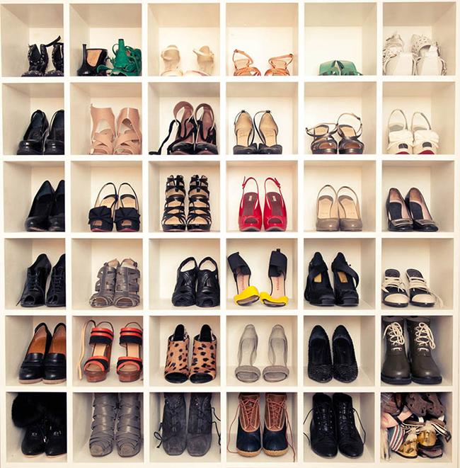 Ideias para organizar os seus sapatos - estante para sapatos