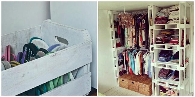 Closets de sonho para todas as carteiras - paletes