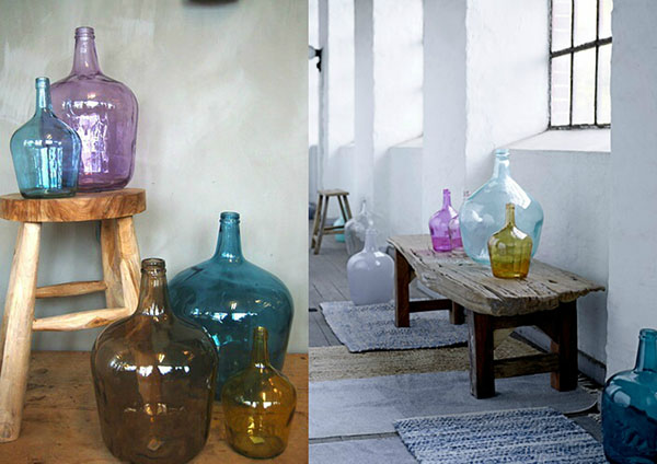 Estilo rústico - garrafões antigos