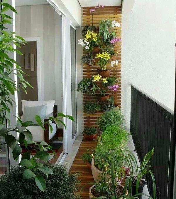 Ideias para varandas de todos os tamanhos - jardim vertical