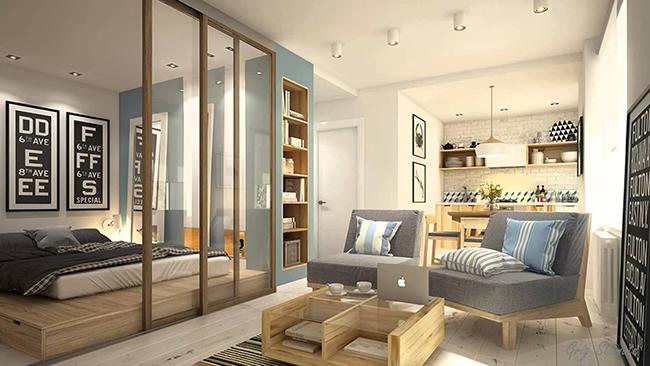 Soluções geniais para estúdios e casas pequenas - cores neutras