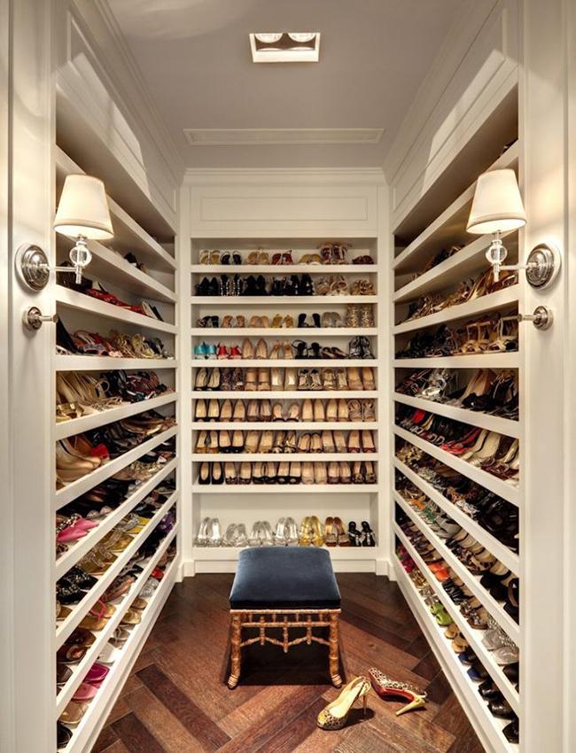 Closets de sonho para todas as carteiras - closet para sapatos