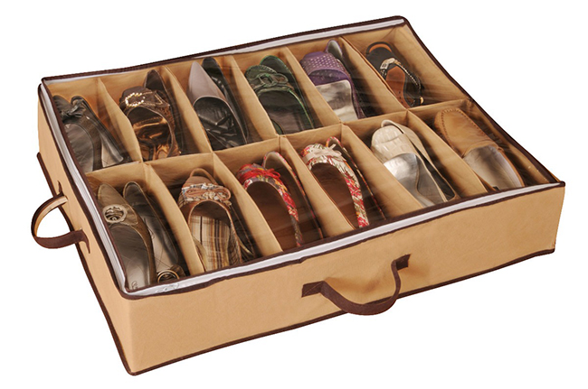 Ideias para organizar os seus sapatos - sapateiras para debaixo da cama