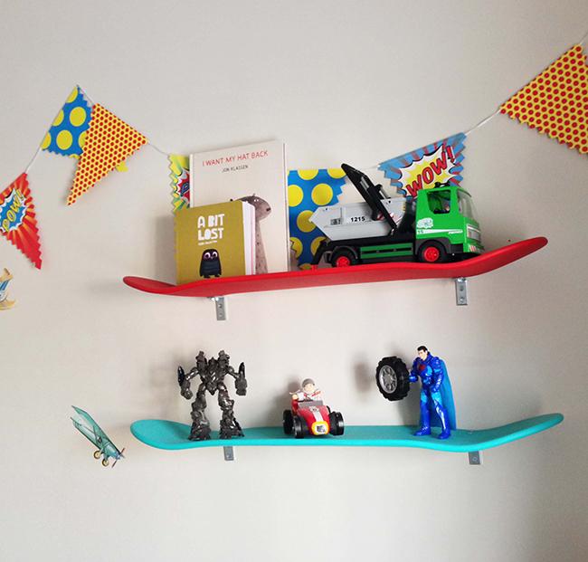 Reciclar e decorar - novos usos para os skates dos seus filhos