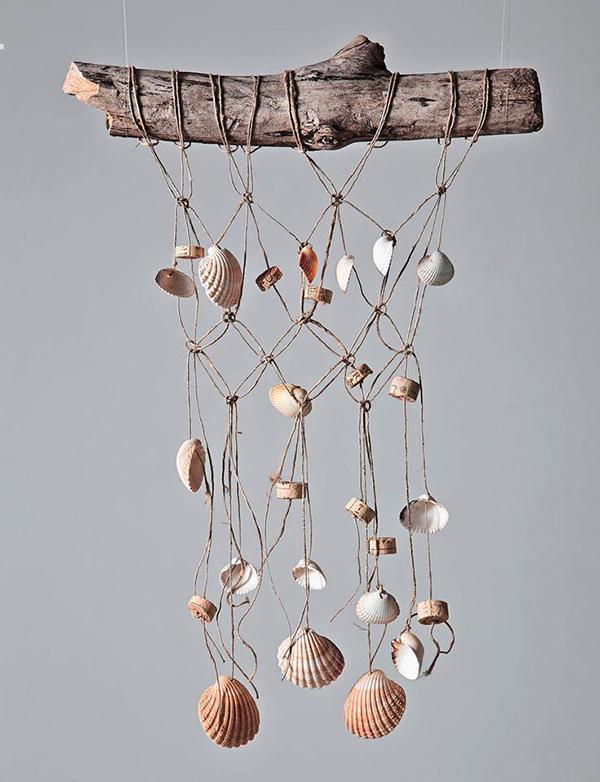 Espanta espíritos lindos que pode fazer em sua casa - feito com conchas