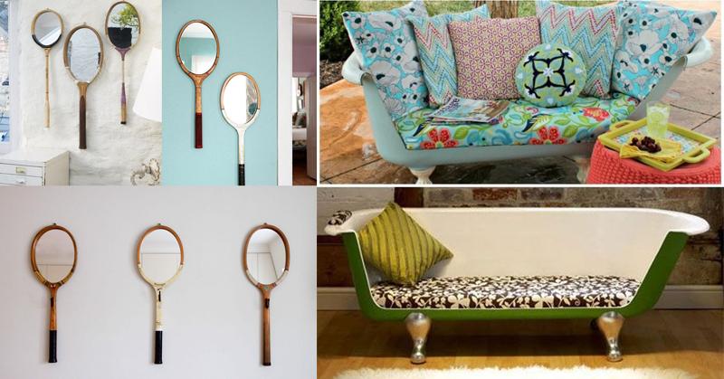 Ideias para reciclar e decorar com objetos velhos