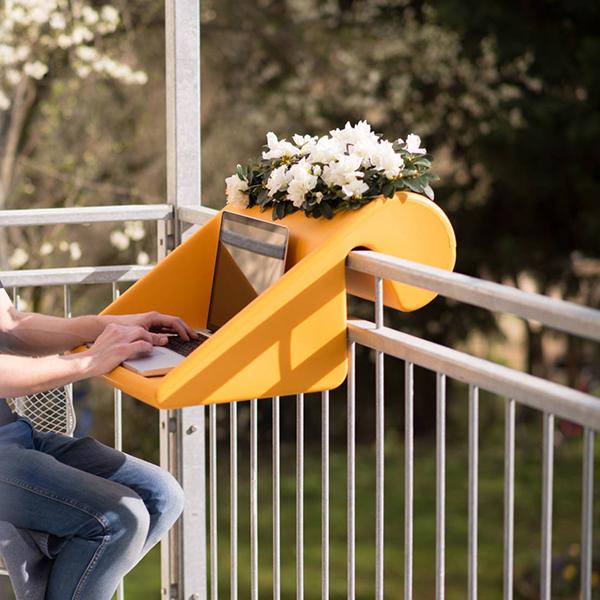 Faça da sua marquise uma biblioteca e espaço de leitura! Trabalhar ao ar livre