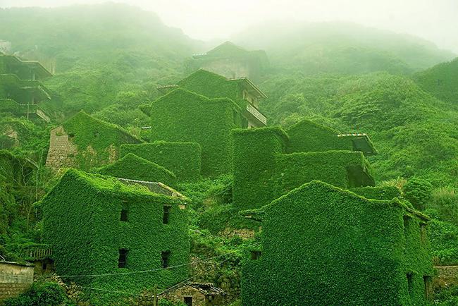 Quando a natureza reclama o seu lugar - antiga vila de pescadores , China