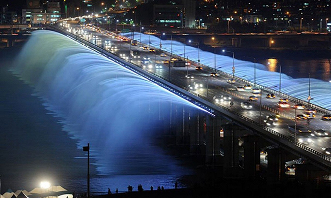 Ponte Banpo, Seul, Coreia do Sul - As 15 pontes mais espectaculares do mundo