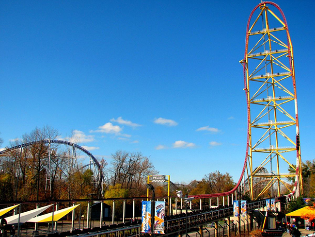 11 das montanhas russas mais impressionantes do mundo - Top Thrill Dragster, Ohio, Estados Unidos da América