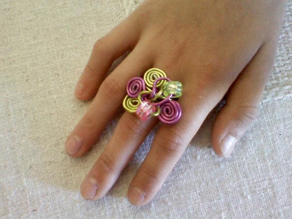 anel arame colorido