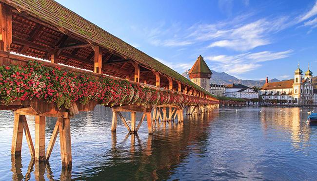 Ponte Chapel, Lucerna, Suíça - As 15 pontes mais espectaculares do mundo