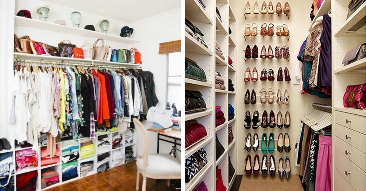 13 closets de sonho para todas as carteiras