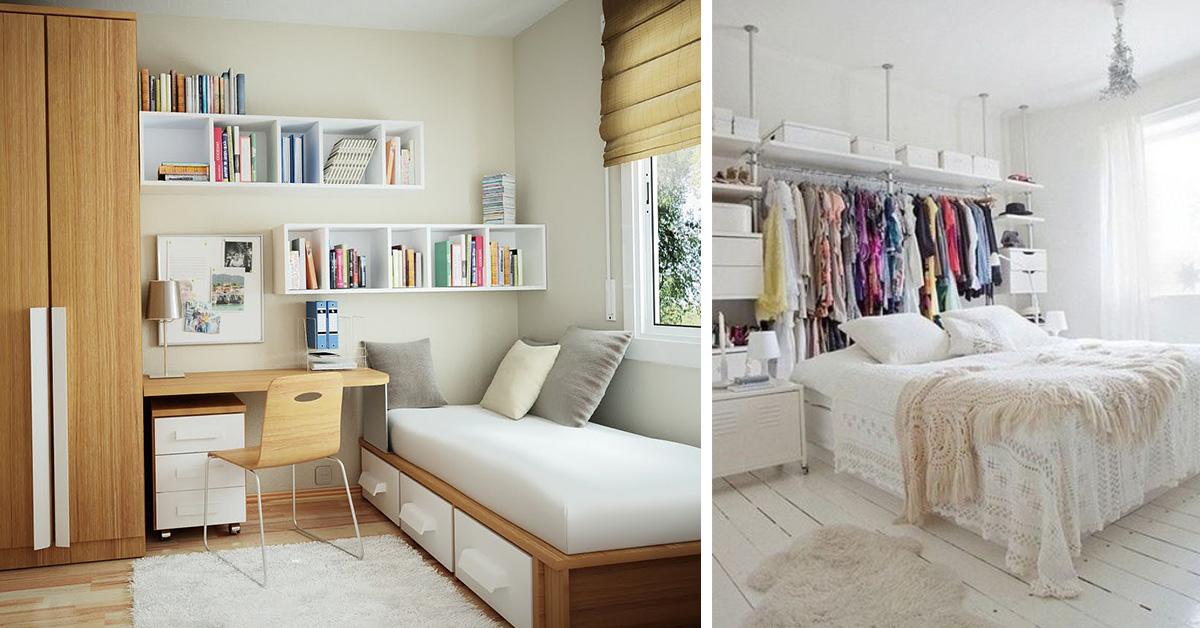 11 boas dicas para quartos pequenos Like3ZA ~ Quarto Pequeno Tamanho