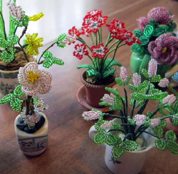 Missangas - flores