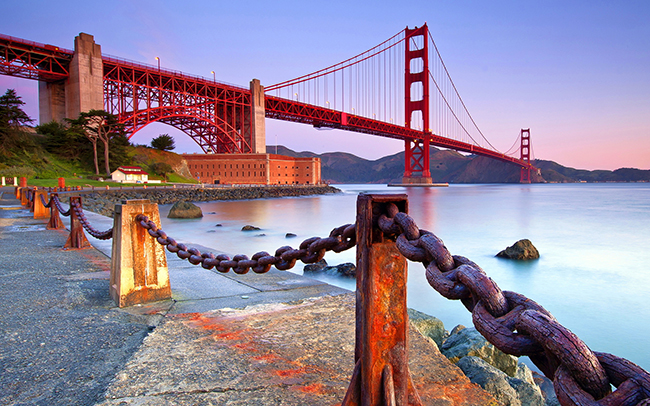 Ponte Golden Gate, São Francisco, EUA - As 15 pontes mais espectaculares do mundo