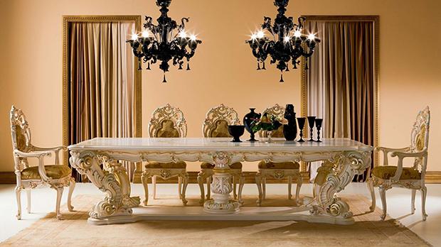 Mesas de de jantar - um exemplo de luxo