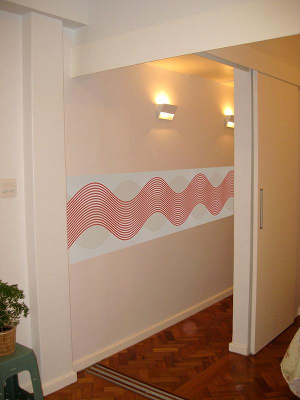 Papel de parede em faixa