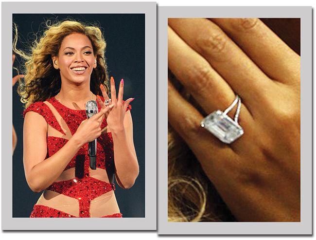 Anéis de noivado de sonho - Beyoncé, cantora