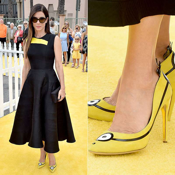 Os 10 sapatos mais bizarros de sempre - Sandra Bullock