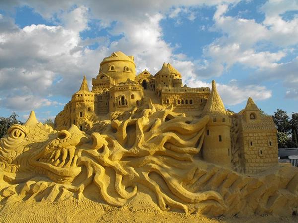 Esculturas de areia - castelo de areia, Benjamin Probanza