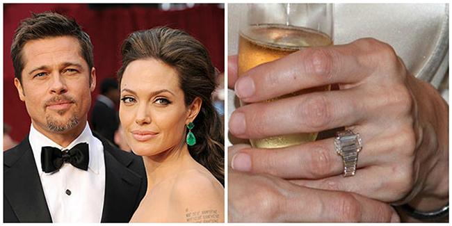 Anéis de noivado de sonho - Angelina Jolie, actriz