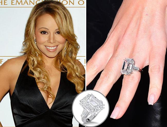 Anéis de noivado de sonho - Mariah Carey, cantora
