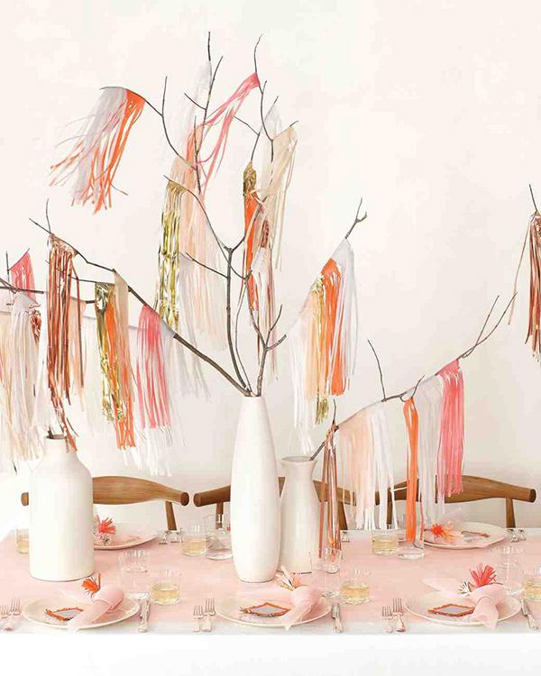 Centros de mesa - alternativa a usar flores