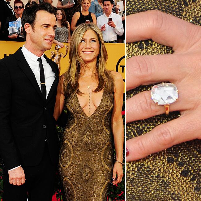 Anéis de noivado de sonho - Jennifer Aniston, actriz