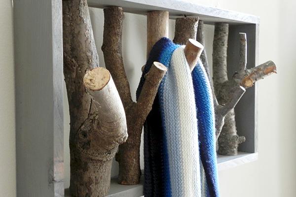 Bengaleiros feitos com troncos de árvore