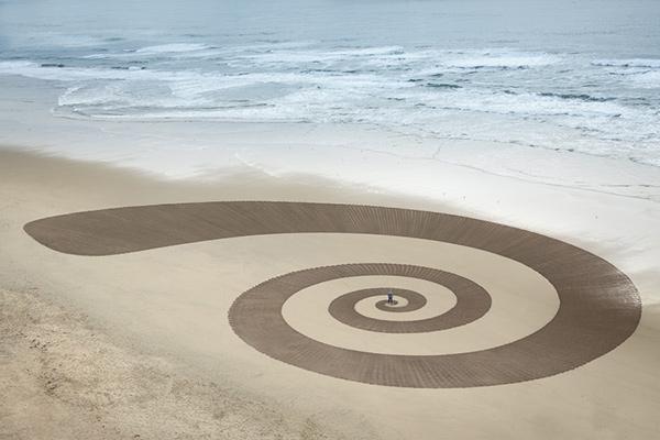 Esculturas de areia - Jim Denevan