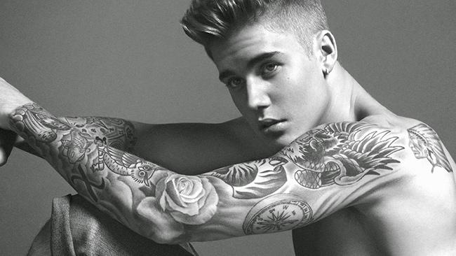 Tatuagens - Justin Bieber, músico