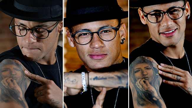 Tatuagens - Neymar, futebolista