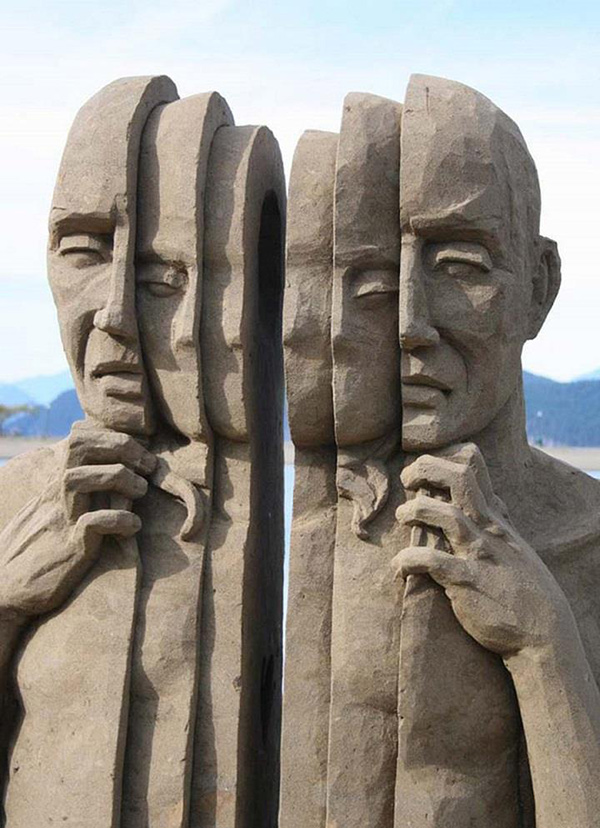 Esculturas de areia - Carl Jara