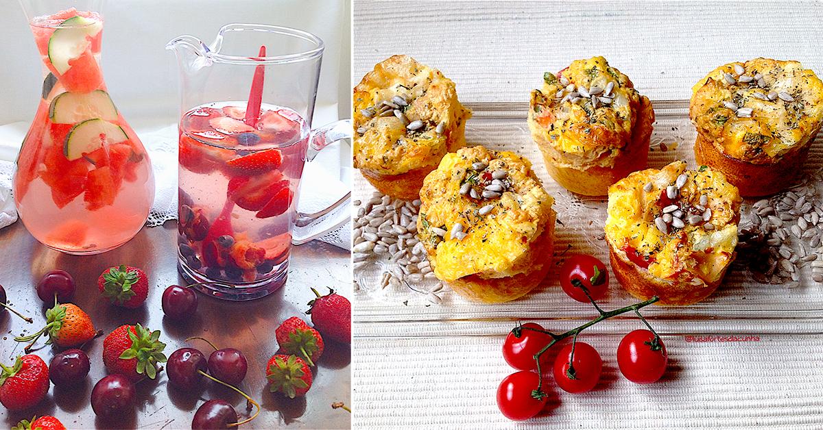 2 Águas Aromatizadas Detox + Muffins Irresistíveis