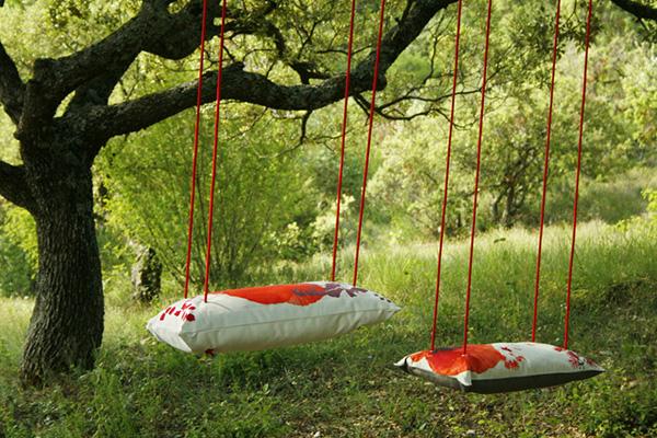 Baloiços e cadeiras - baloiço de jardim com almofadas